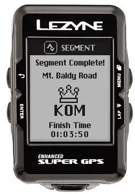 Black and white LCD - LEZYNE Enhanced Super GPS Cycling Computer